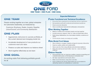 One Ford Vision sheet